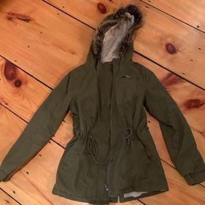 Sherpa Lined, Fur Hood Utility Style Coat